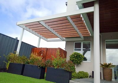 Maximum Designs timber effect pergola