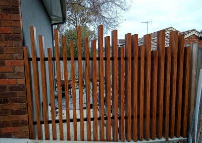 Maximum Designs timber effect fence